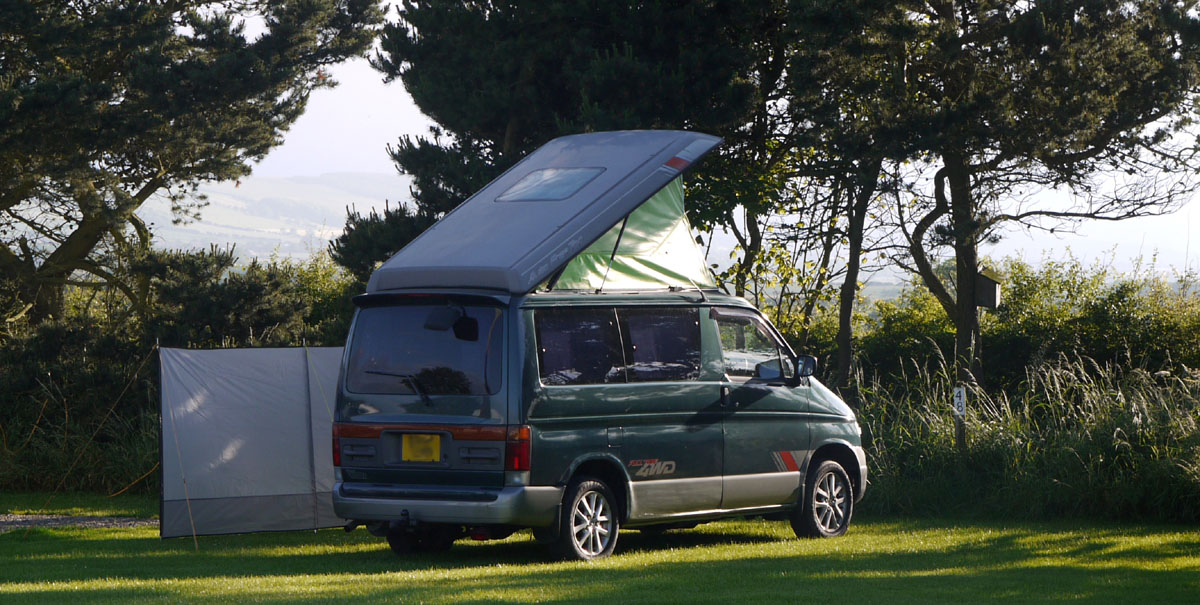 Parked up near Filey - bongobuddy.co.uk