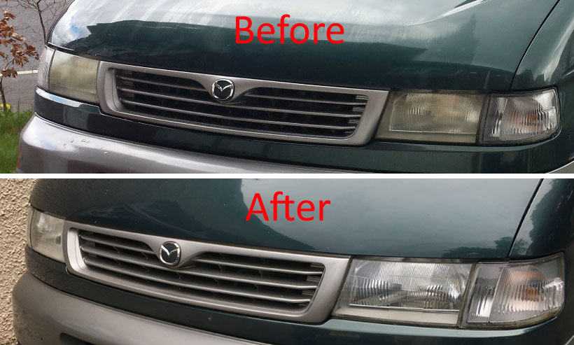 Headlight restoration - bongobuddy.co.uk